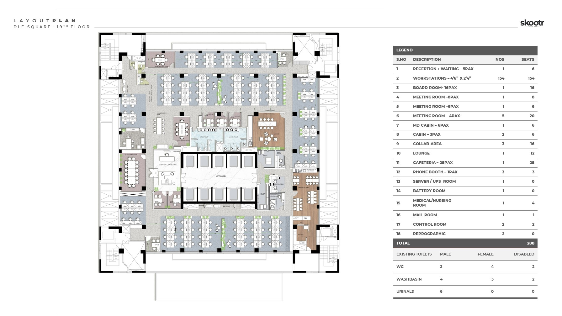 Skootr office DLF Square Layout Plan