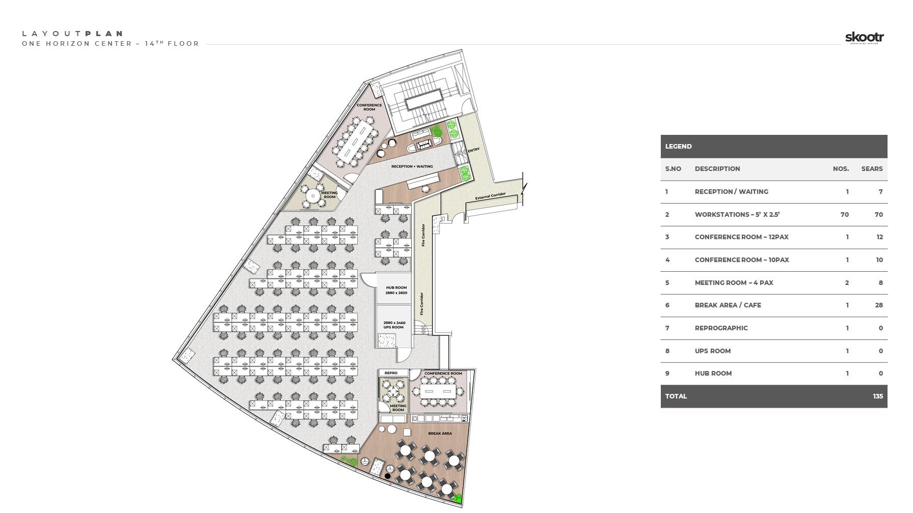 Skootr One Horizon Centre Layout Plan