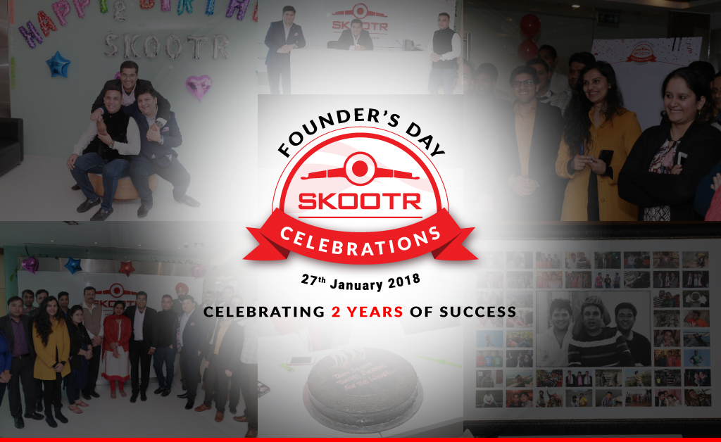 Skootr celebrates its 2nd Founders Day