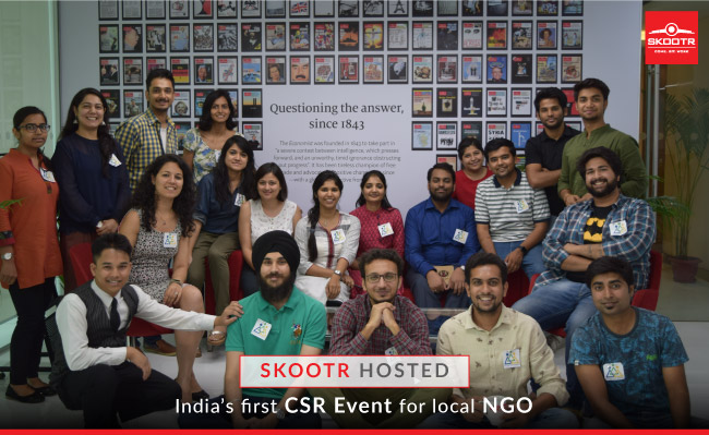 Skootr hosted India's first CSR Event for local NGO